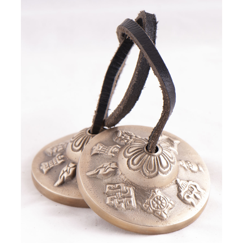 Tibetische Zimbeln 8 Glückssymbole, Produktbild 1