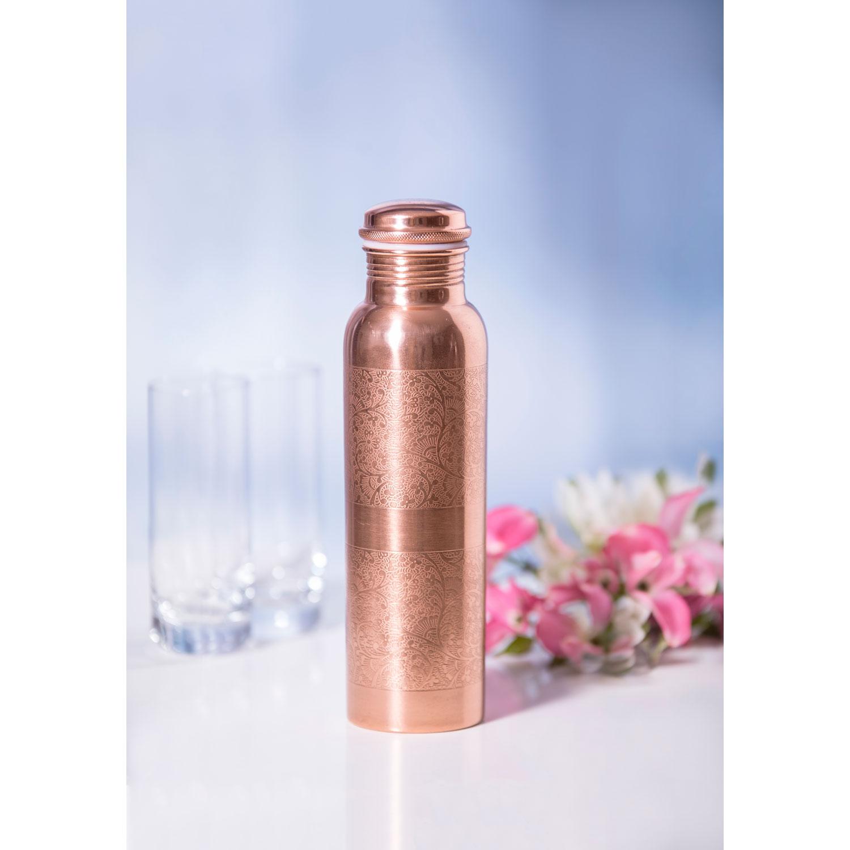 Kupfer-Wasserflasche graviert, Produktbild 3