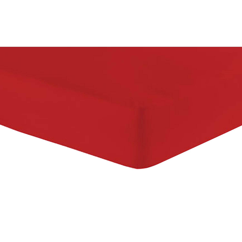 Jersey-Spannbetttuch, Rot, Produktbild 1