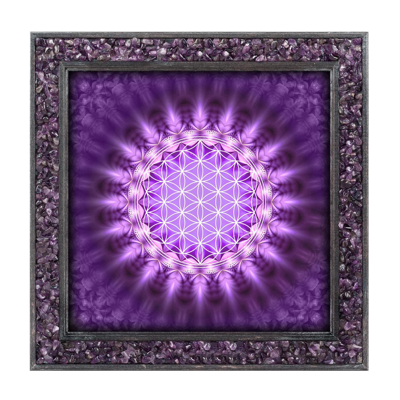 """Amethyst-Energiebild """"Pulsierende Blume des Lebens"""", Produktbild 1"""