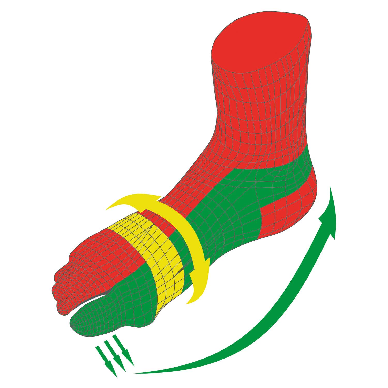 Hallux-Valgus-Socken , Schwarz, Produktbild 5