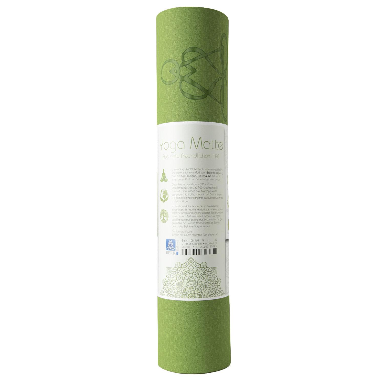 """Yogamatte """"Lebensbaum"""", Hellgrün/Grau, Produktbild 2"""
