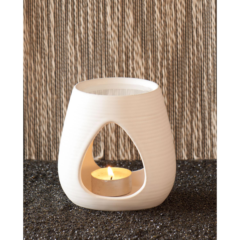 Keramik-Aromalampe, weiß, Produktbild 2