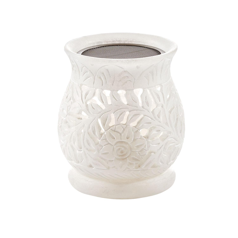 Alabaster-Kombistövchen für Räucherwerk & Aromaöle , Produktbild 1