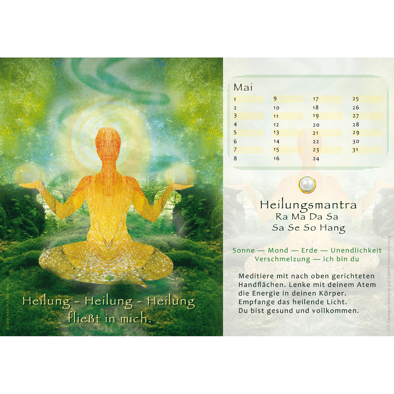 """Immerwährender Kalenderaufsteller """"Yoga Perlen"""", Produktbild 3"""