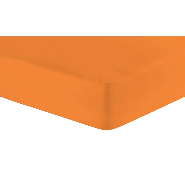 Jersey-Spannbetttuch, Orange, Produktbild 1