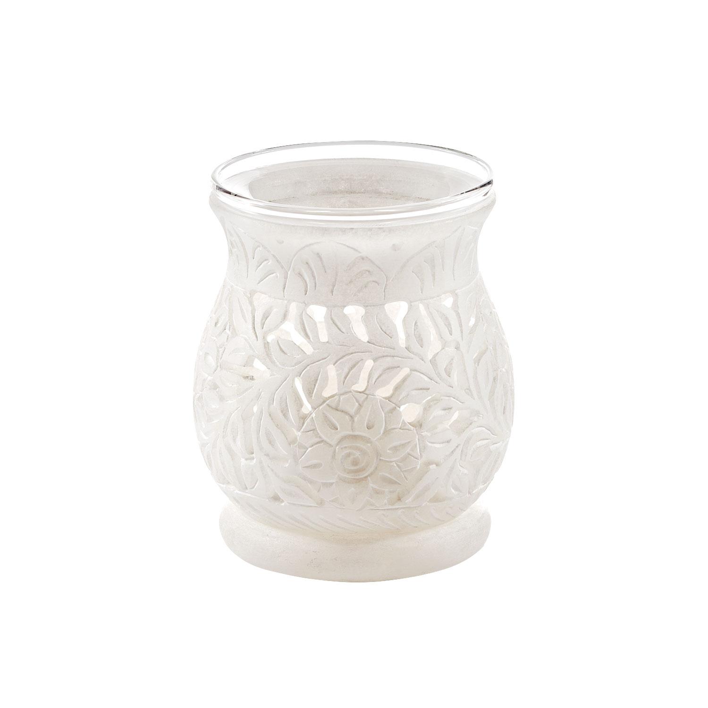 Alabaster-Kombistövchen für Räucherwerk & Aromaöle , Produktbild 2