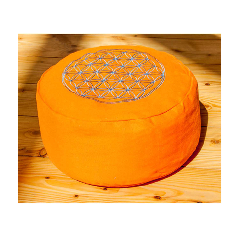 "Meditationskissen ""Blume des Lebens"", orange, Produktbild 1"