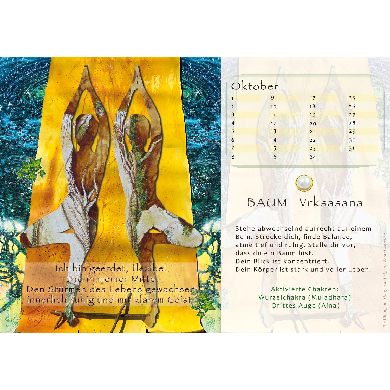 """Immerwährender Kalenderaufsteller """"Yoga Perlen"""", Produktbild 2"""