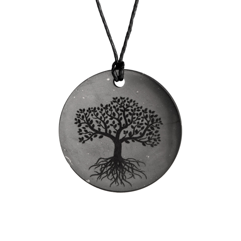 """Schungit-Anhänger """"Baum des Lebens"""", Produktbild 1"""