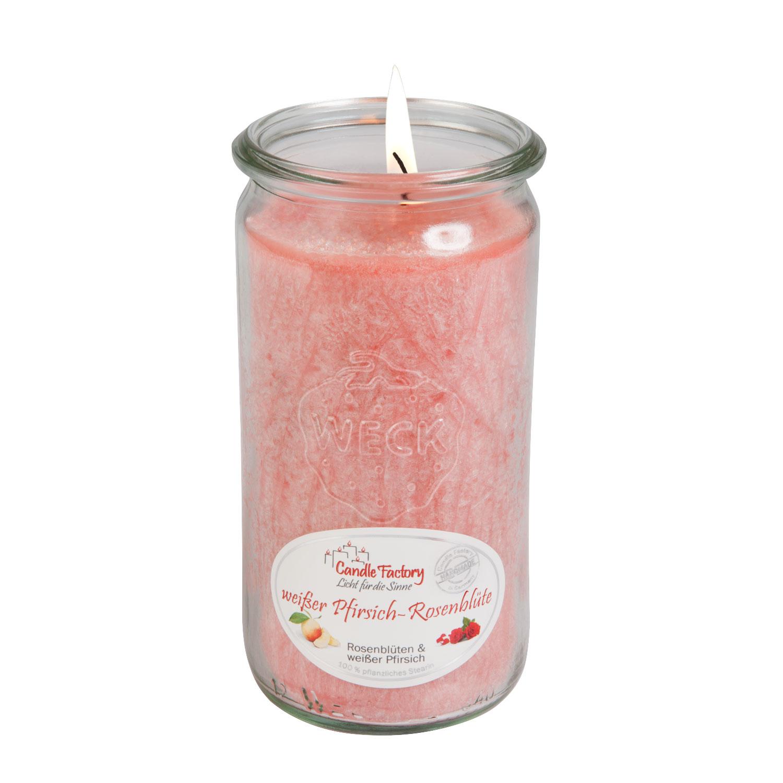 """Duftkerze """"weißer Pfirsich-Rosenblüte"""", Produktbild 1"""