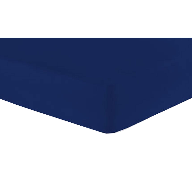 Jersey-Spannbetttuch, Marine, Produktbild 1