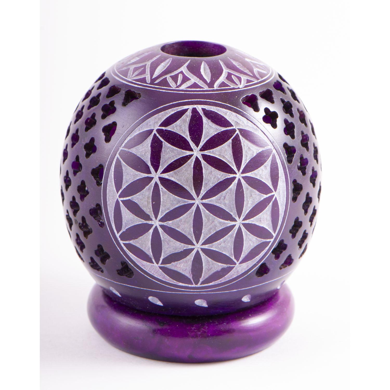 "Kugel-Teelichthalter ""Blume des Lebens"", Lila, Produktbild 1"