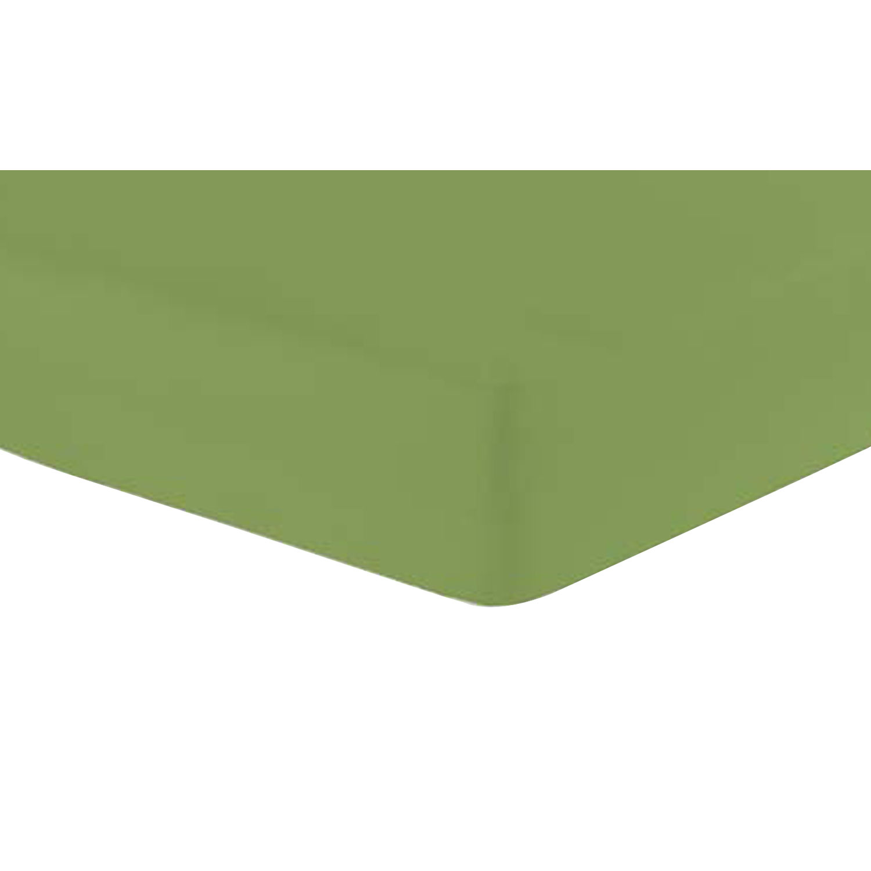 Jersey-Spannbetttuch, Olive, Produktbild 1