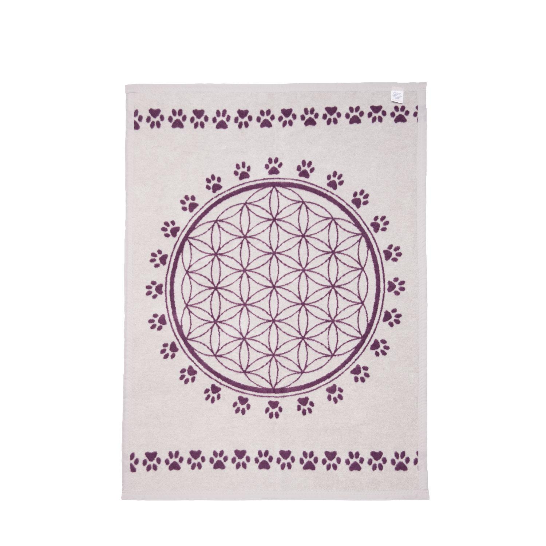"""Haustier-Decke """"Blume des Lebens"""", Violett/Hellgrau, Produktbild 4"""