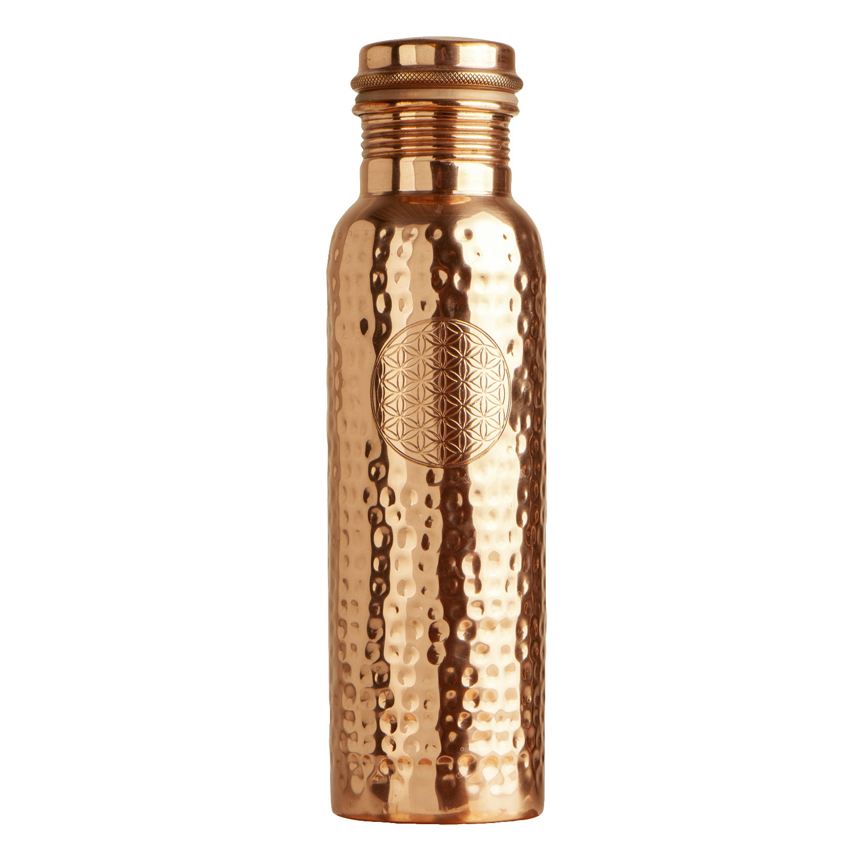 """Kupfer-Trinkflasche """"Blume des Lebens"""", 900 ml, Produktbild 1"""