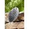 Räucherstäbchenhalter Blatt, Silberfarben, Produktbild 2