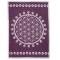 """Haustier-Decke """"Blume des Lebens"""", Violett/Hellgrau, Produktbild 1"""